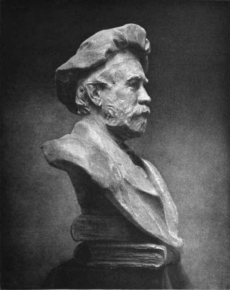 Chester Beach Bust of Theodore Low De Vinne    Theodore Low De Vinne   American printer and author on typography