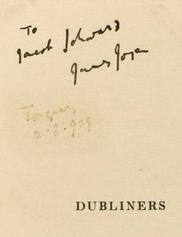 Joyce sig Rare, Signed James Joyce Dubliners Comes to Auction