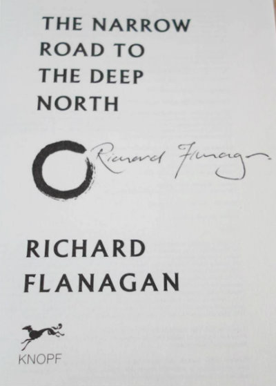 signed narrow road deep north flanagan Whats a Booker Prize worth?